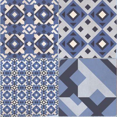 Vintage tegel Ben Azul